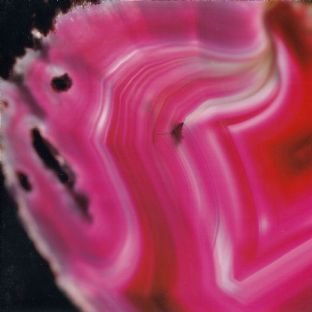 Gemstone  Blank Greetings Card - Pink Agate (Gem11)